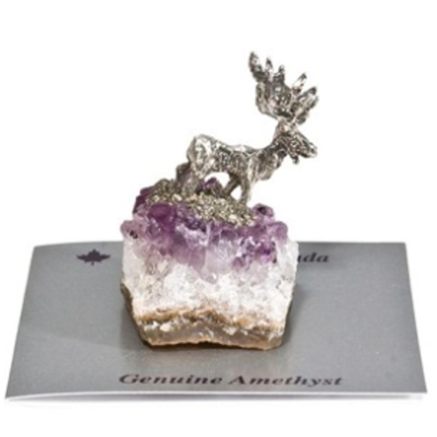 Amethyst Moose Figurine