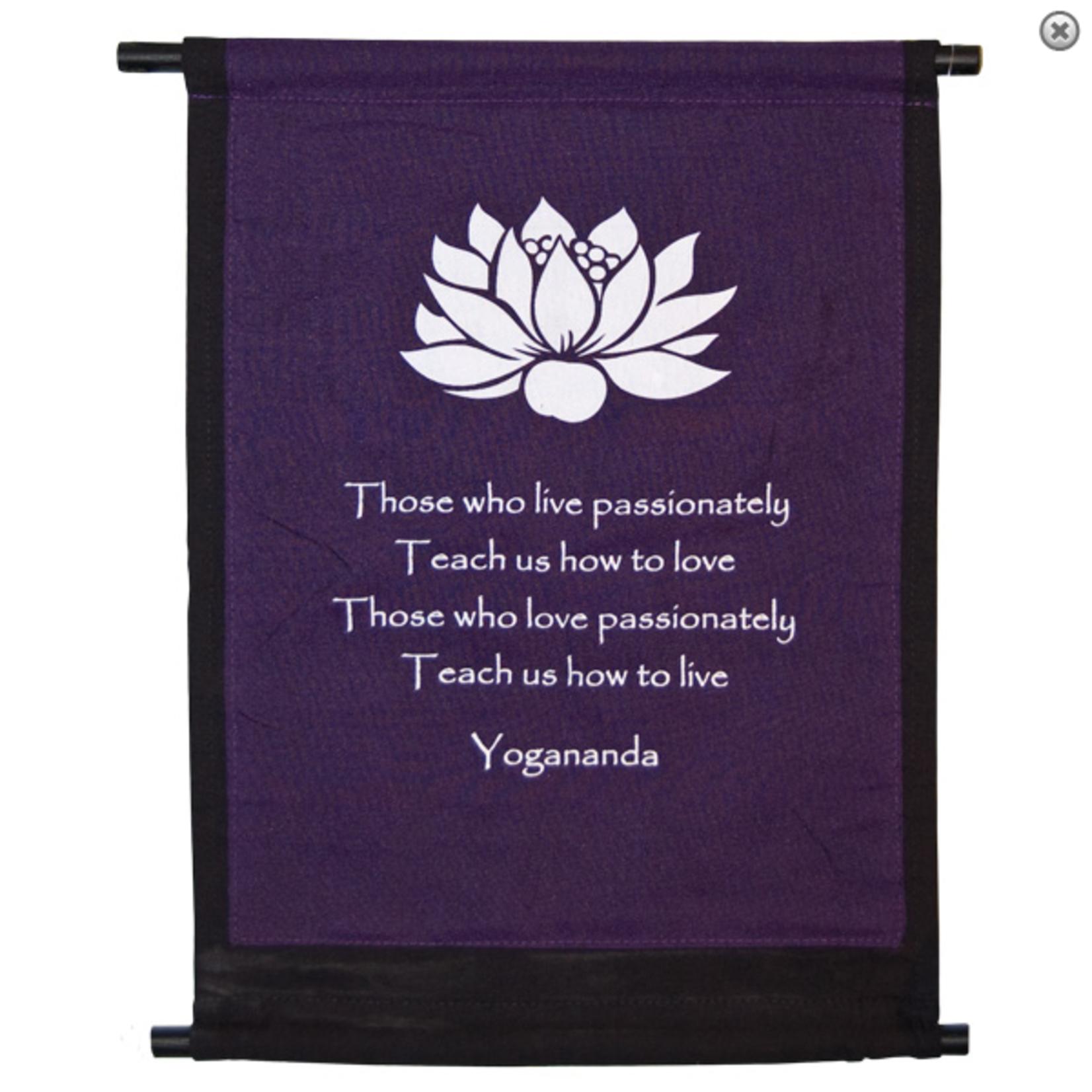 Banner Lotus Yogananda- Mini Purple/Black