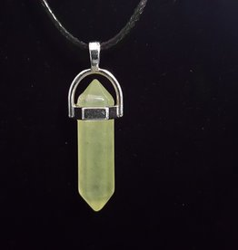 Lemon Quartz Bullet Necklace