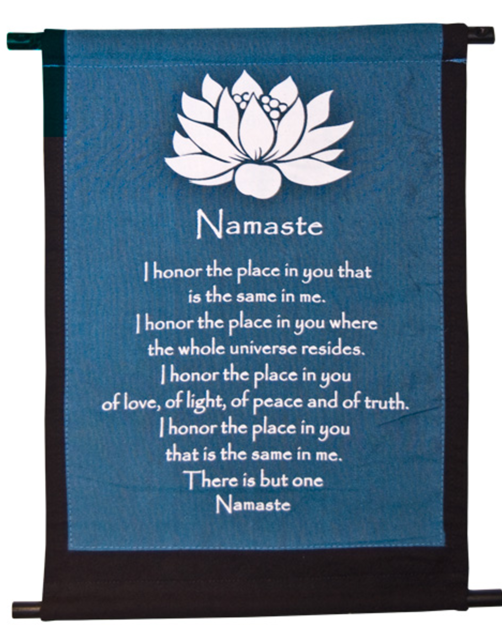 Banner Mini- Lotus Namaste (Blue + Black)