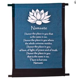 Banner Mini- Lotus Namaste (Blue + Black)