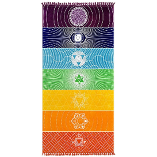7 Chakra Rainbow  Tapestry  Yoga Mat