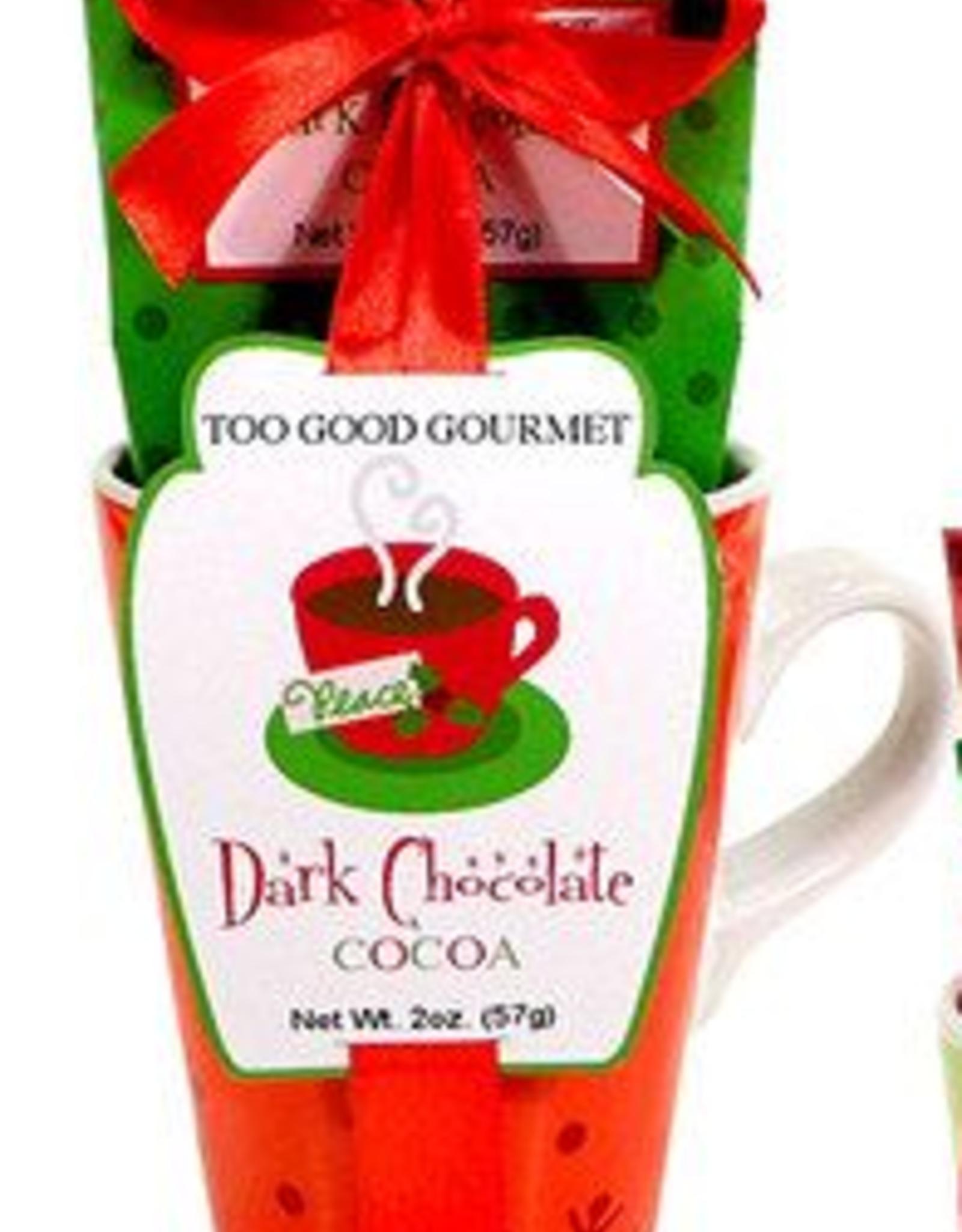 Dark Cocoa Mix- Red Mug Set