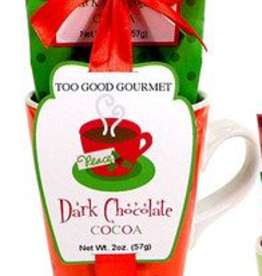 Dark Cocoa Mix- Red Mug Set