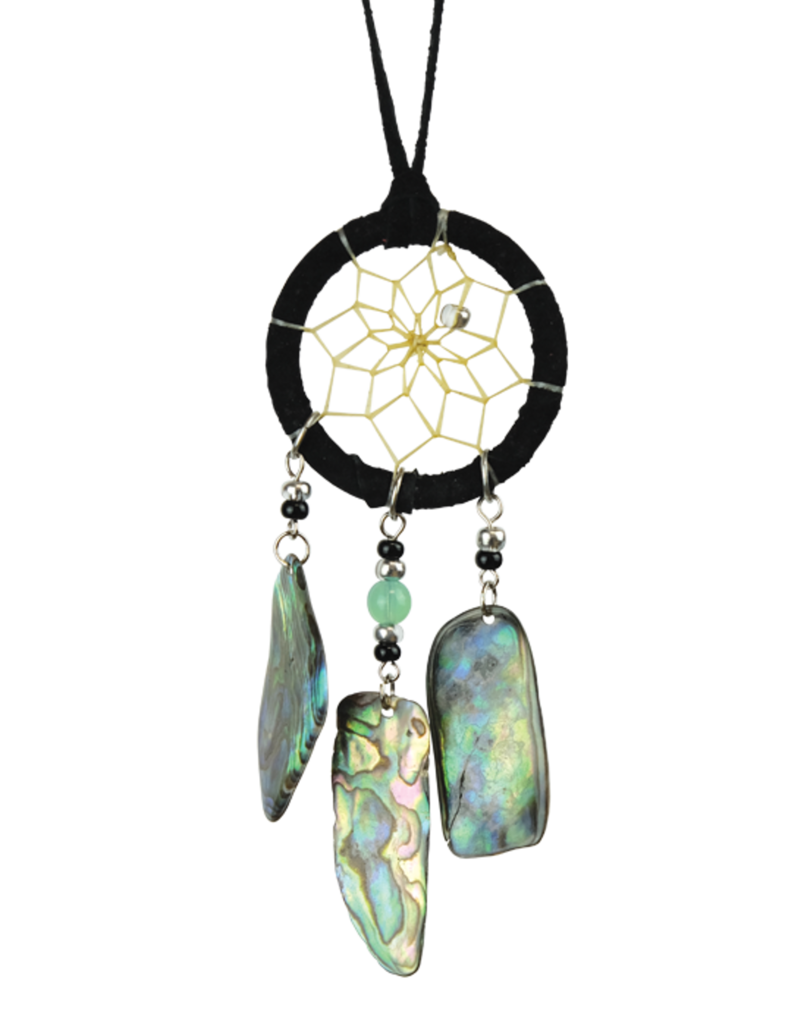 Black Dream Catcher detailed with paua shell dangles