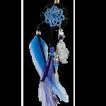 Dream Catcher Black Magical  detailed with quartz crystal