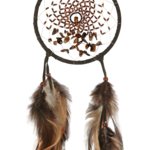 Dream Catcher Energy Flow  DARK BROWN with tiger eye semi-precious stones