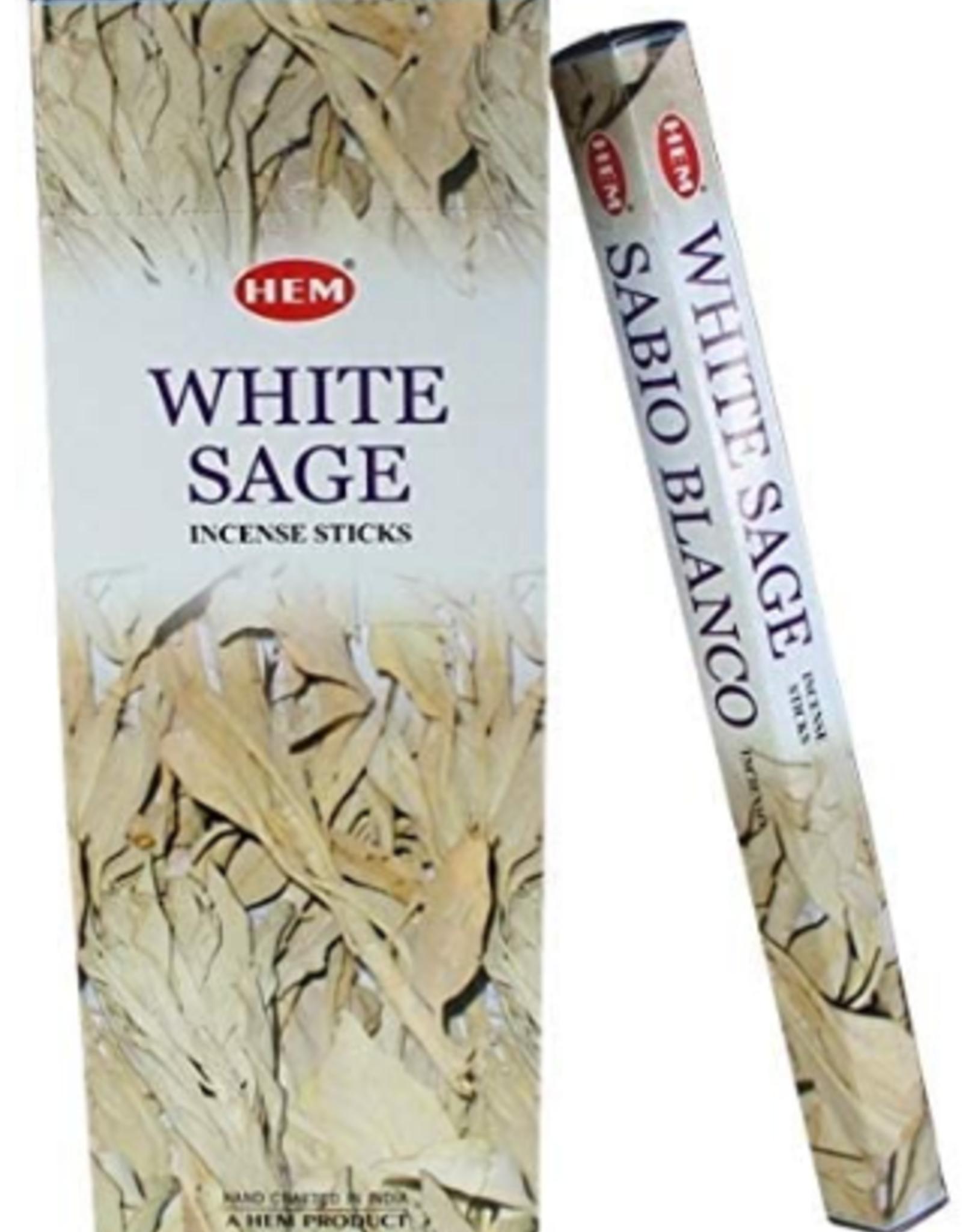 White Sage Incense Sticks (HEM)