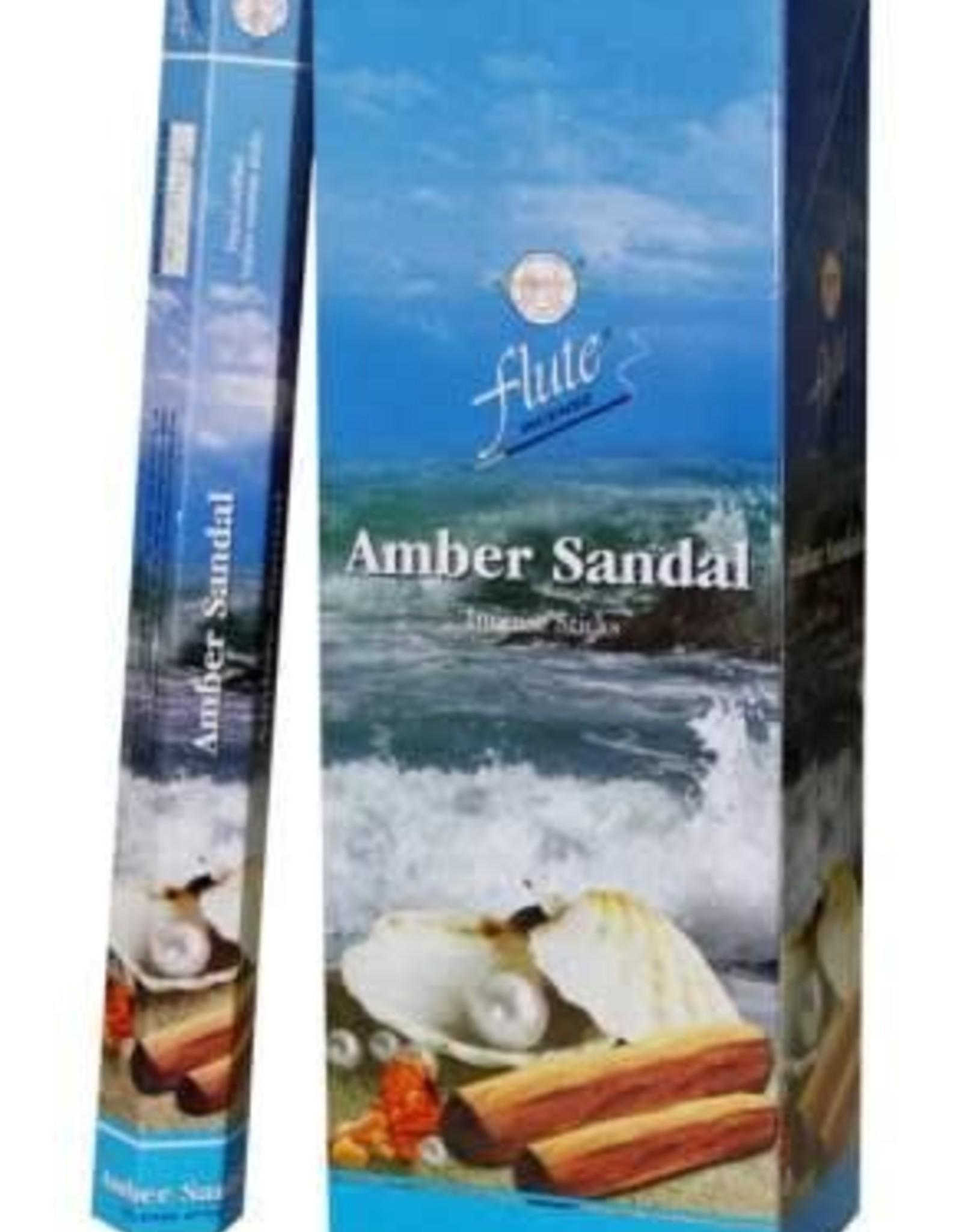 Amber Sandal  Incense -FLUTE-