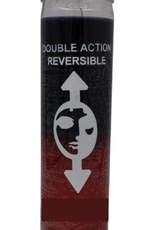 Double Action Reversing 7 day candle Blk / Red