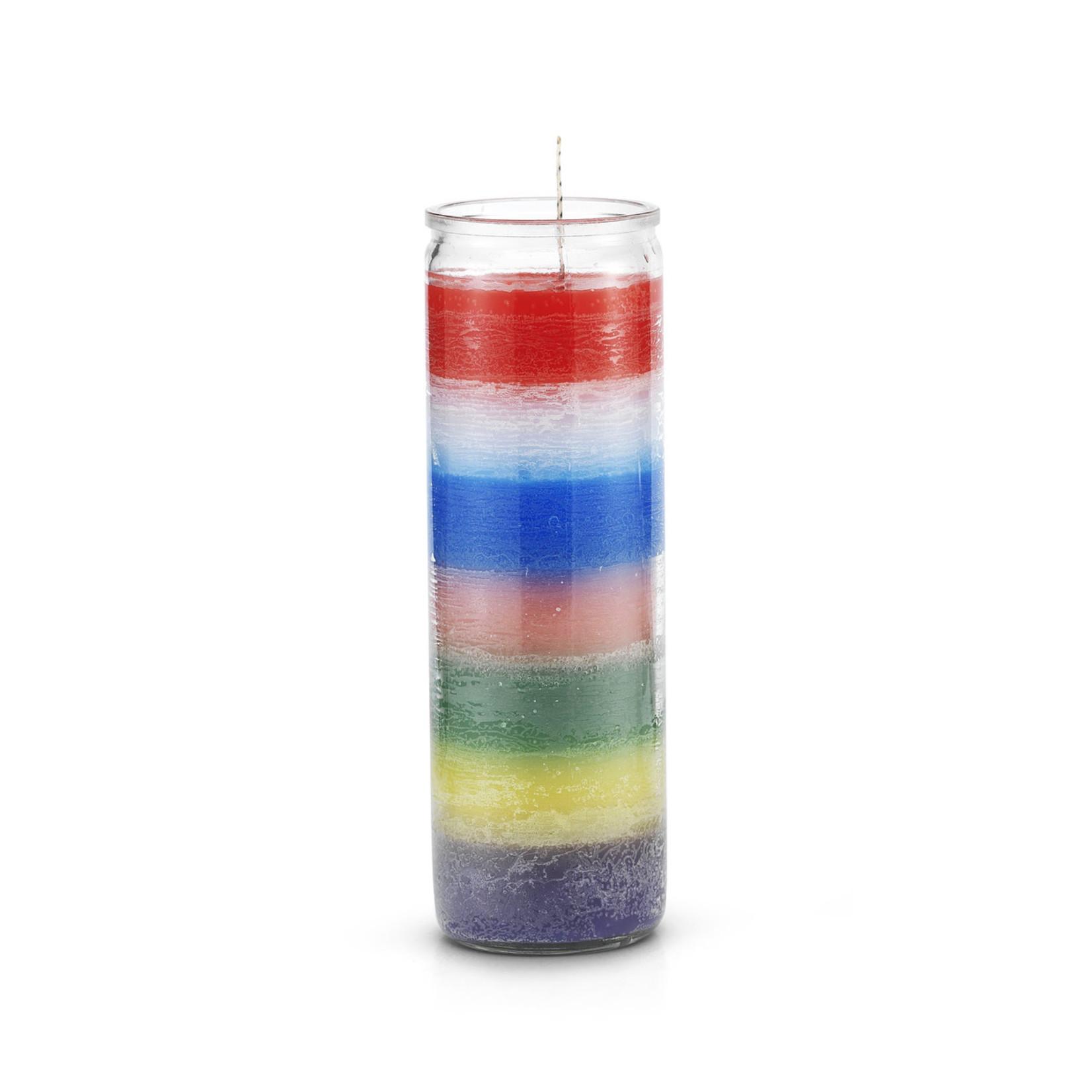 Plain Rainbow 7 Day Candle