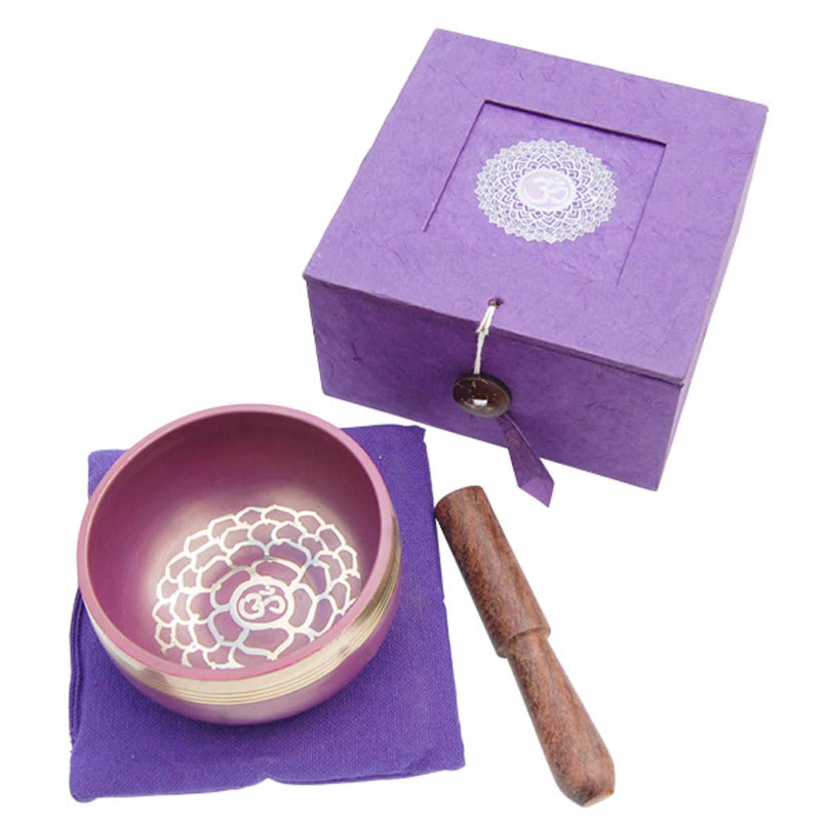 Tibetan Singing Bowl Crown Chakra Purple