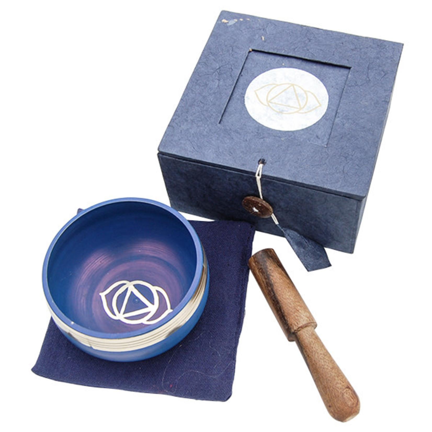Tibetan Singing Bowl Third Eye Chakra Dark Blue