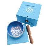 Tibetan Singing Bowl Throat Chakra - LT Blue