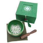 Tibetan Singing Bowl Heart Chakra -Green