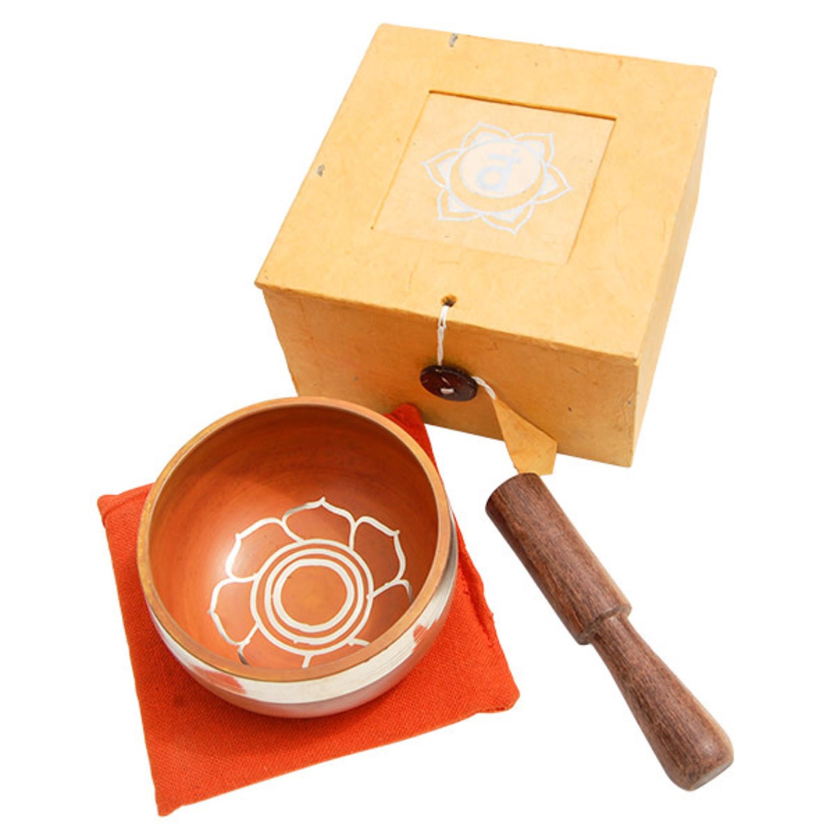 Tibetan Sing Bowl Sacral Orange