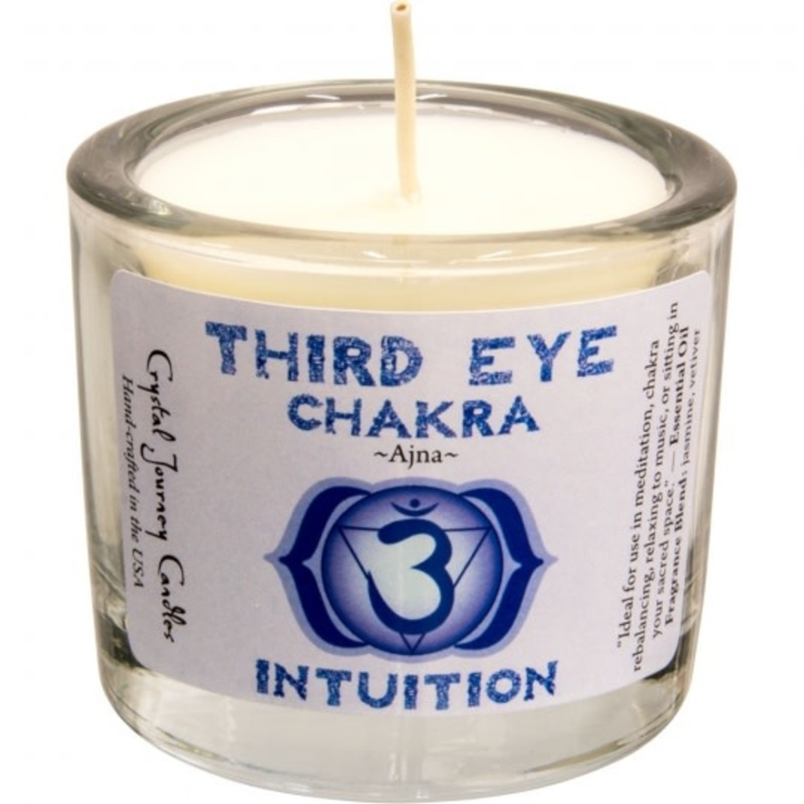 """Chakra Third Eye Soy Votive Candle 2"""" - INTUITION"""