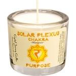 "Chakra Solar Soy Votive Candle 2"" - PURPOSE"