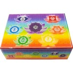 "Wood Lined Box -  Printed Chakra 7"" x 5"""