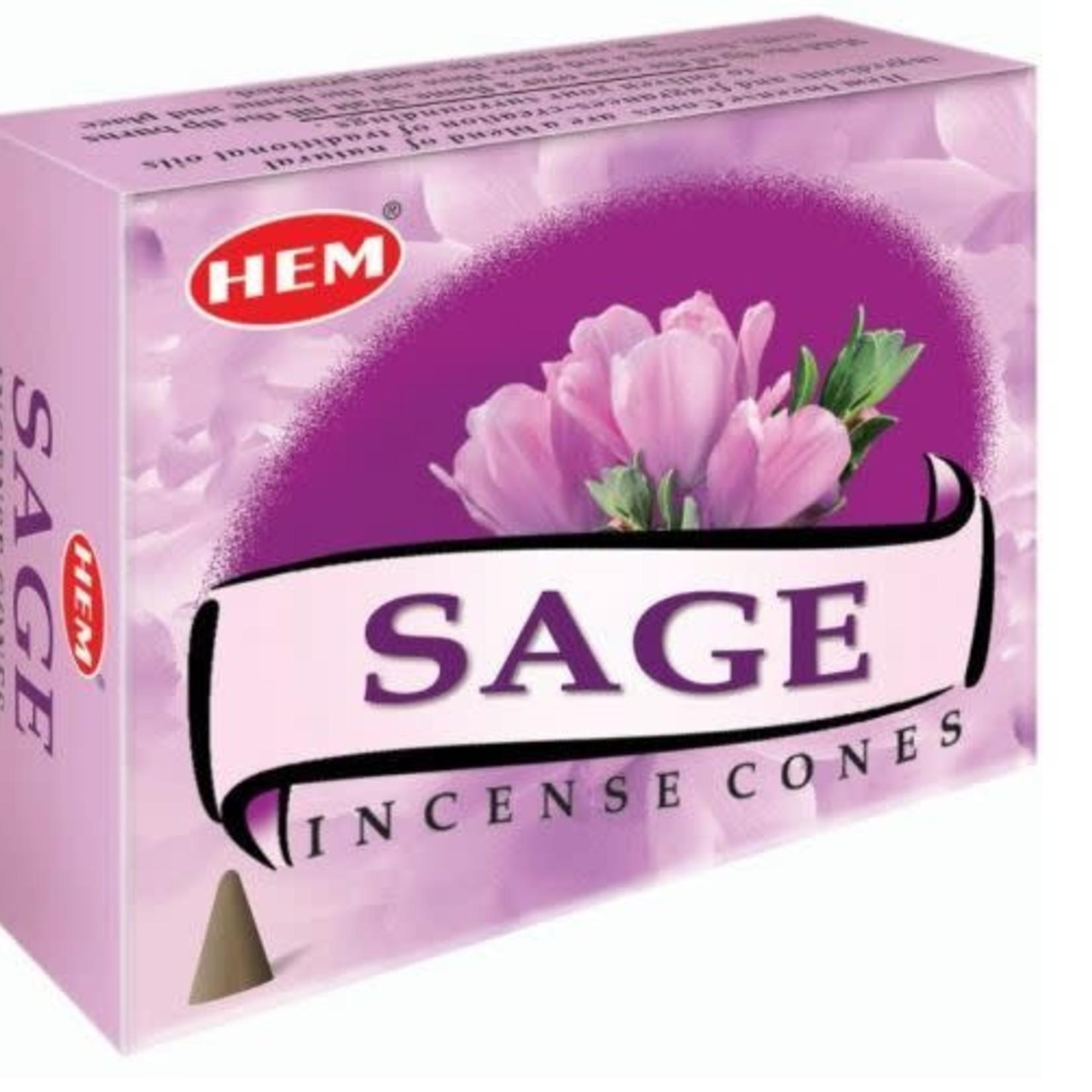 Sage Incense Cones - Hem