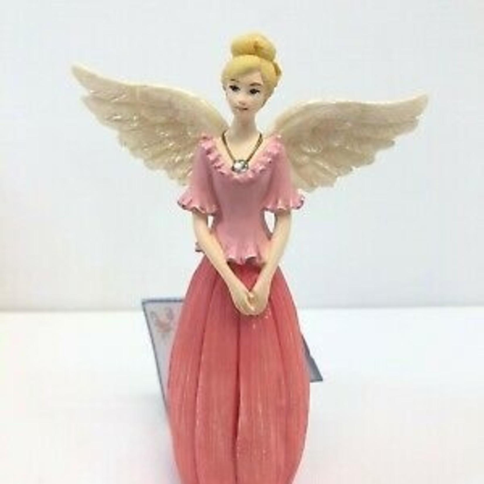 Angel Figurine  April Birthstone