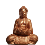Buddha Guatama With T-light Holder Coper