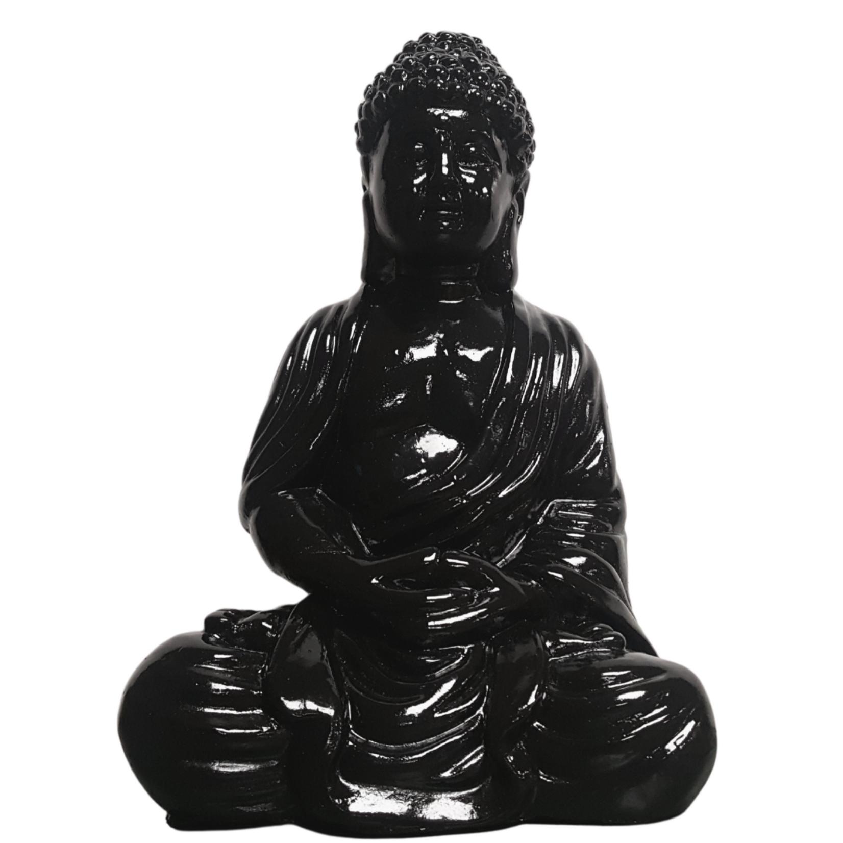 Guatama Large Buddha Black