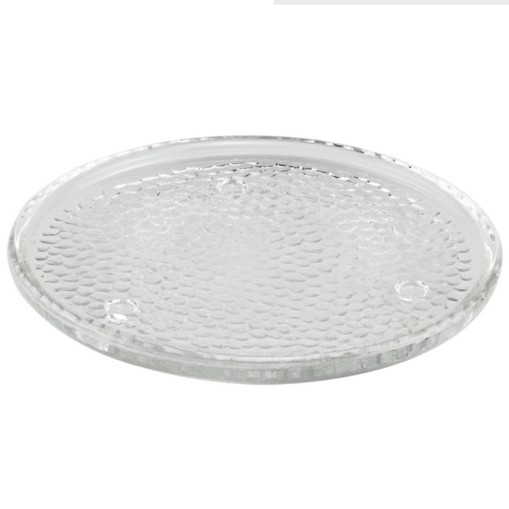Glass candle Holder Plate