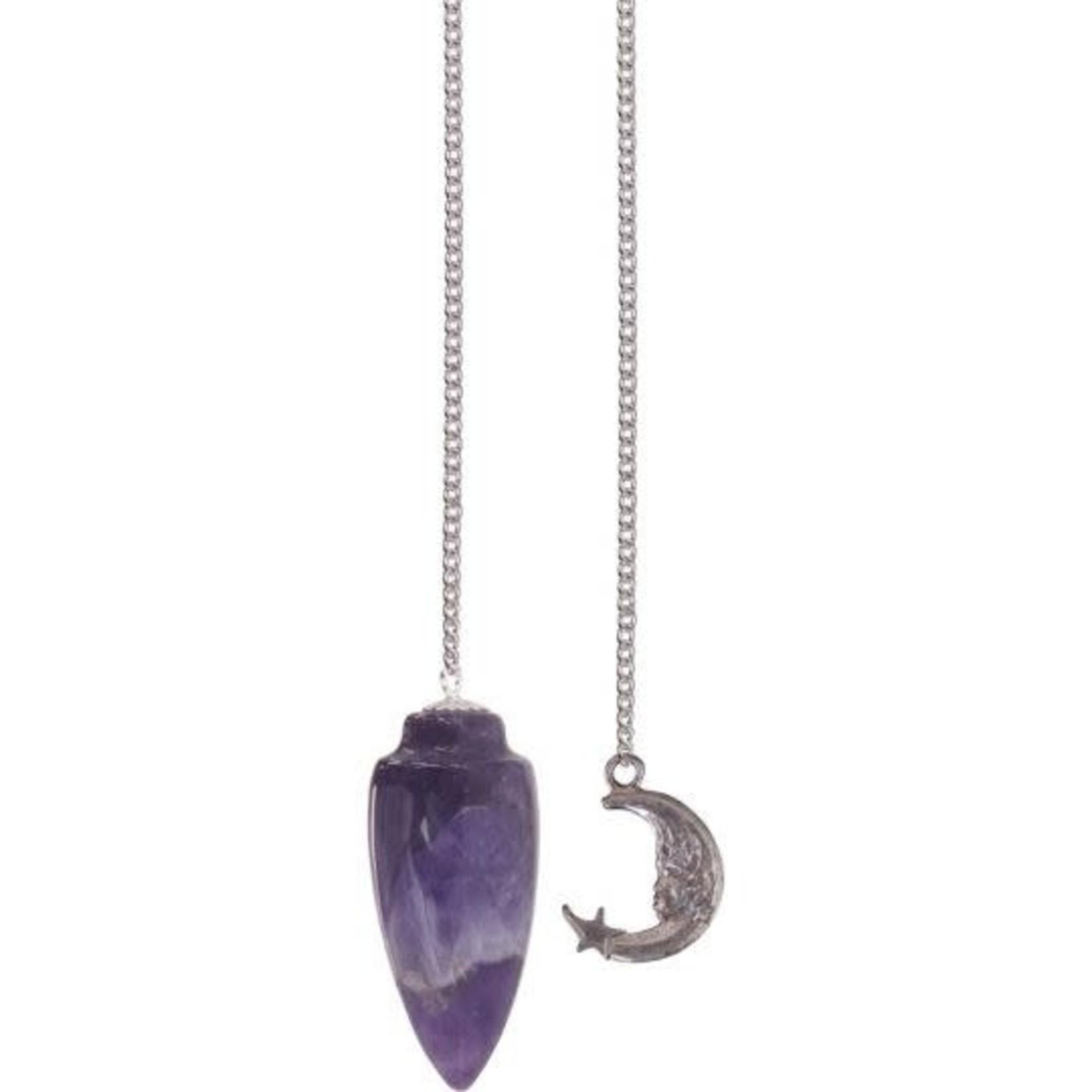 Pendelum Gemstone Amethyst & Moon