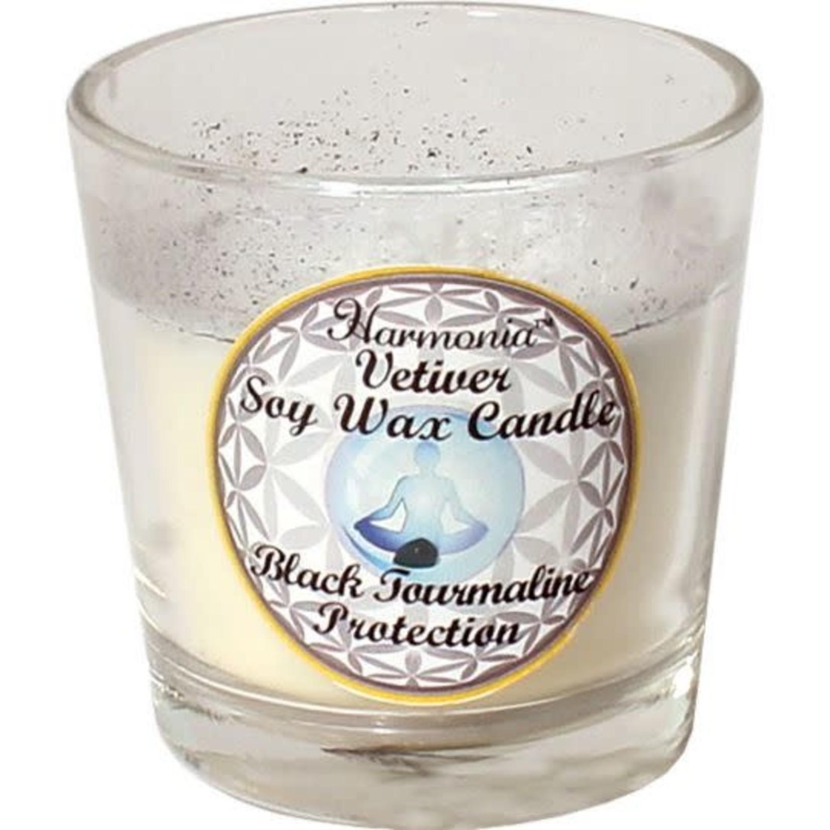 Harmonia - Vetiver  Black Tourmaline Soy Wax Candle