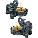 Resin Lucky Elephant Tea light Holder