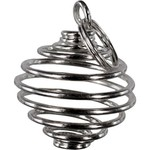 Pendant Cage  Sliver- For Tumbled Stones