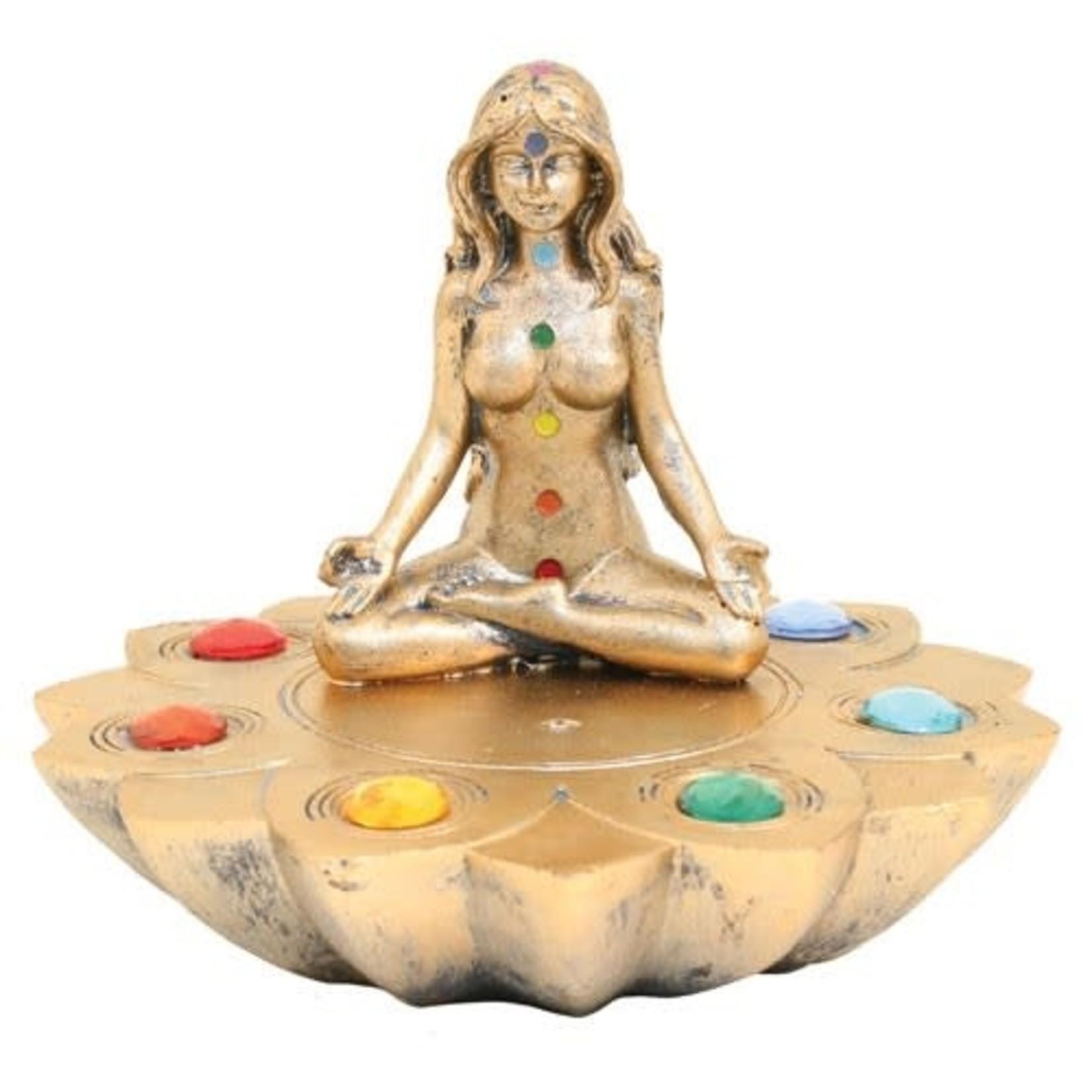 Round Ash Catcher w/ Women Seven Chakra