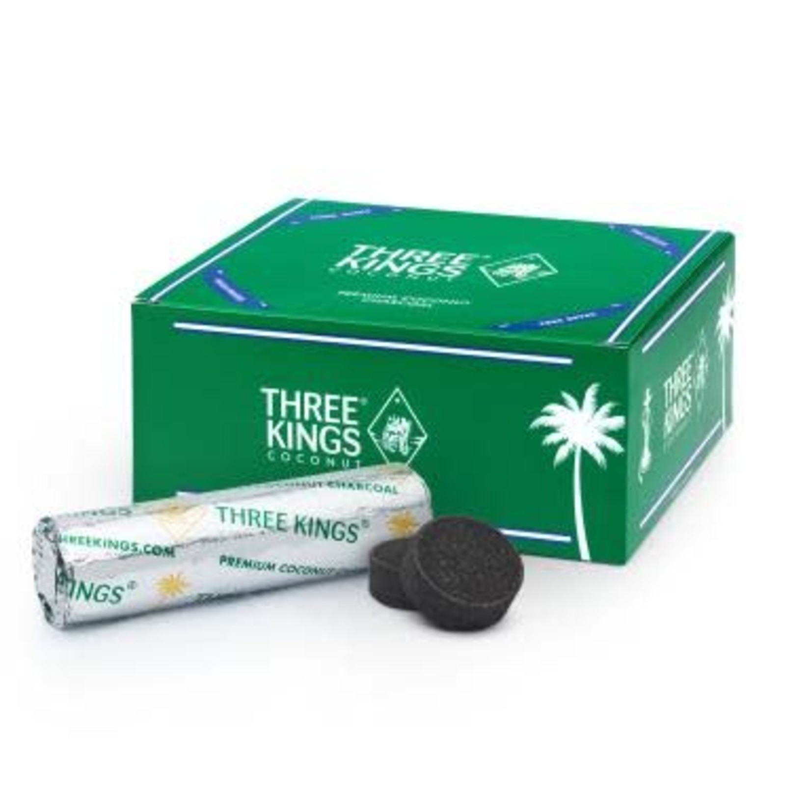 Three Kings 33mm Coconut Charcoal Tablets Needs Electric burner