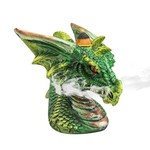 Backflow Incense Burner, Dragon Head - Green