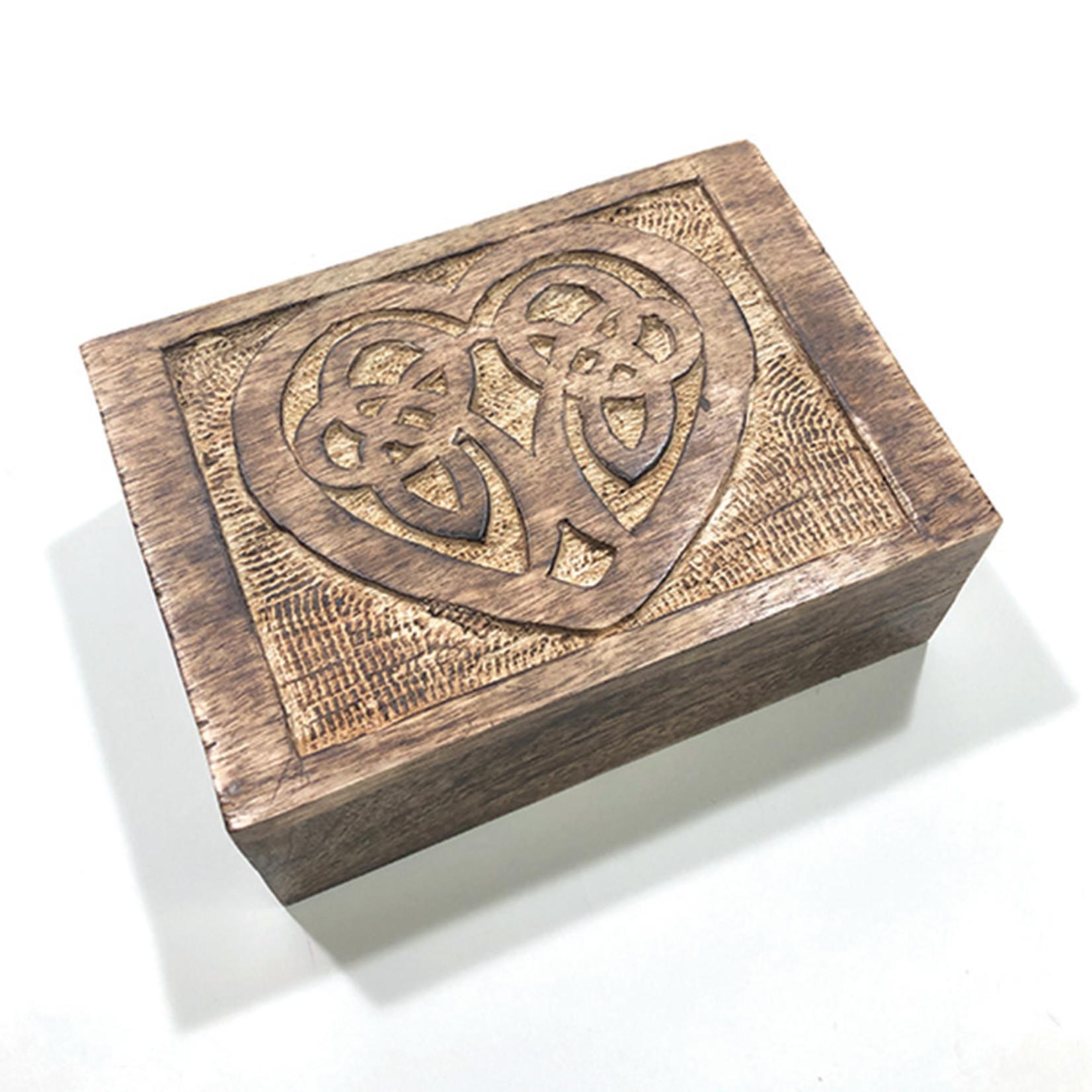 Wooden Box- Celtic Heart