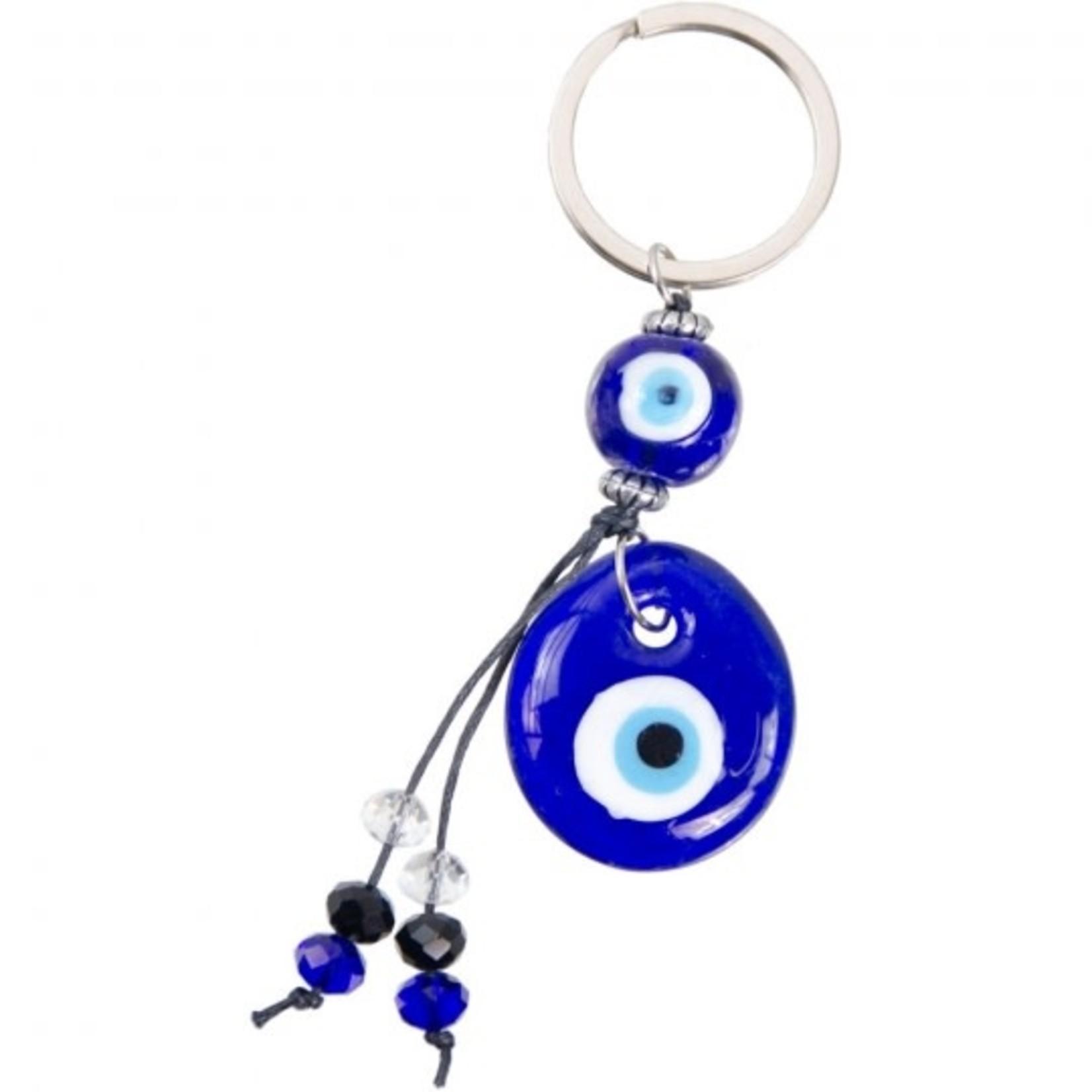 "Key Chain Evil Eye Protection + 2 glass eye 4"""