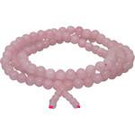 Mala Wrap Bracelet – 6mm Beads – Rose Quartz – 14.5″
