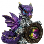 Small Purple Baby Dragon with Gem