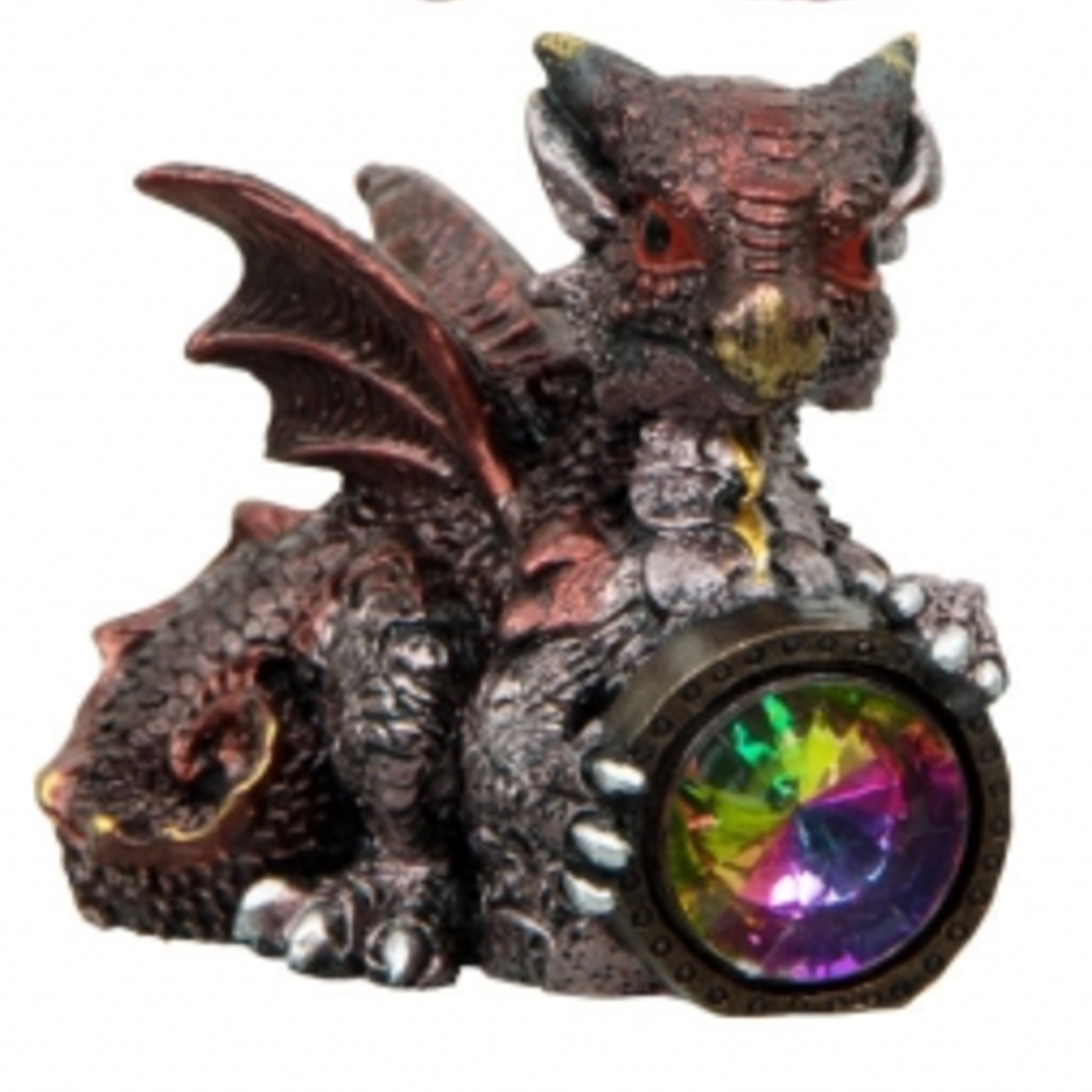 Small Red Baby Dragon with Gem