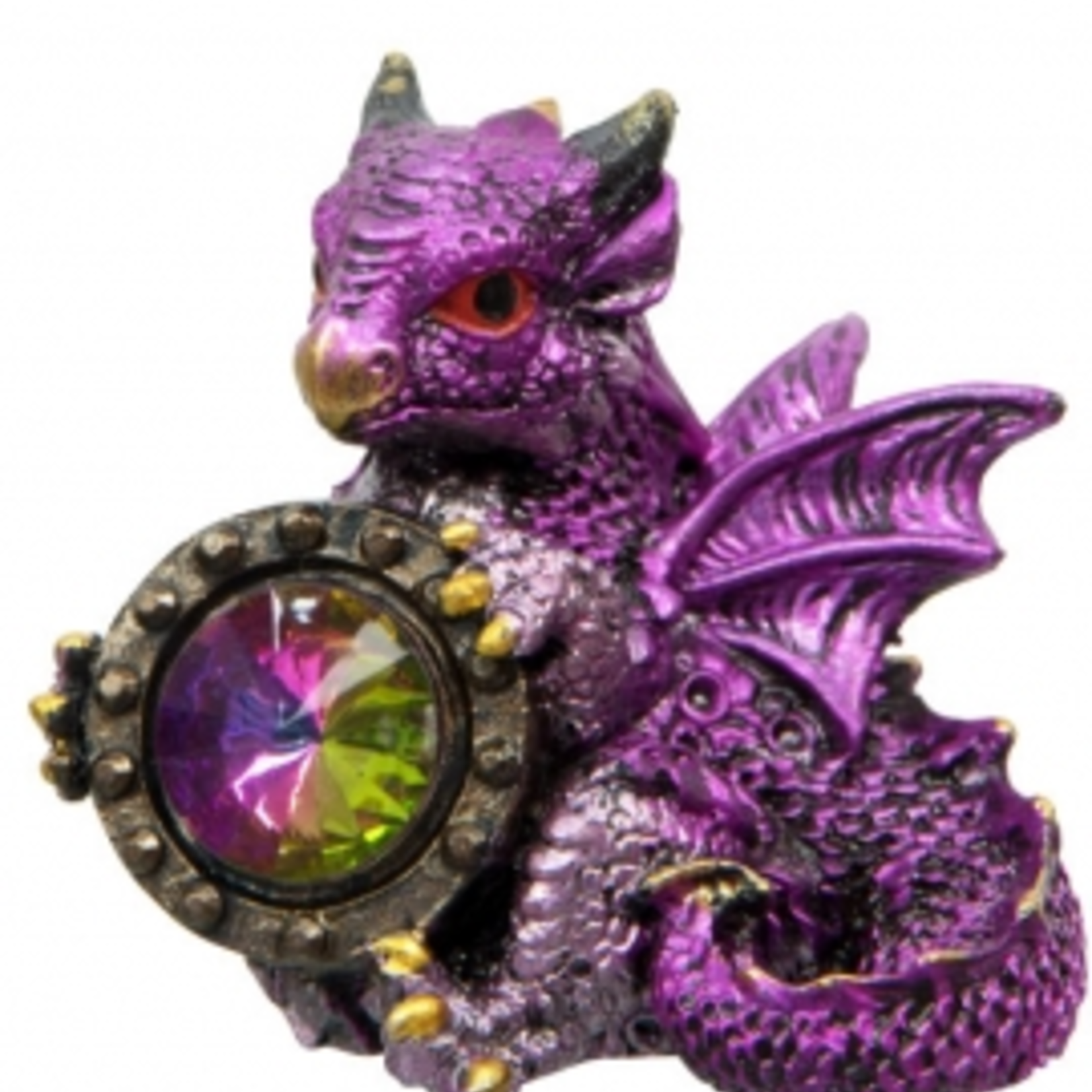 Small Pink Baby Dragon with Gem