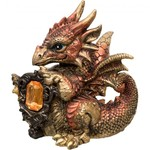 Baby Copper Dragon With Gem