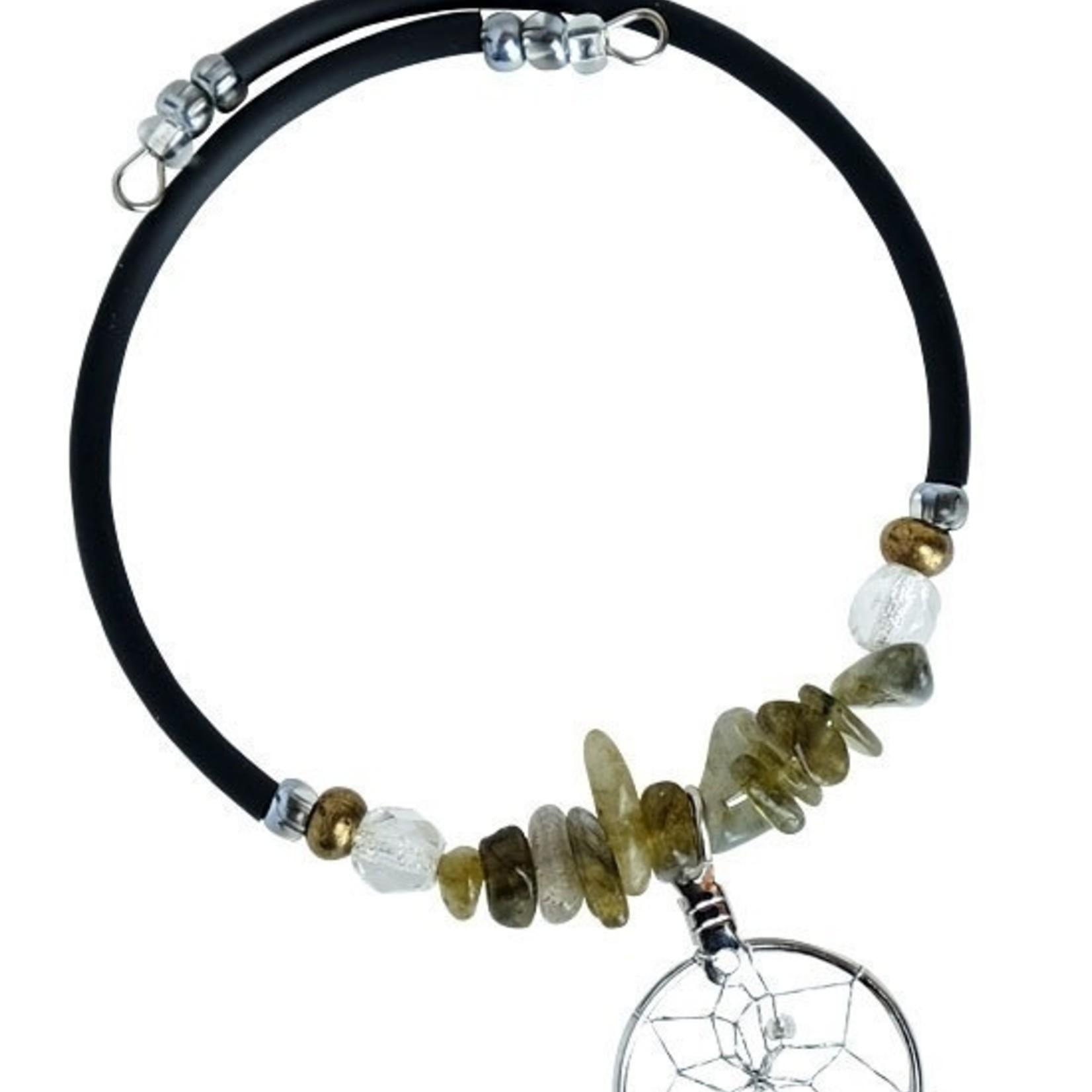 Dream Catcher Bracelet with Labradorite
