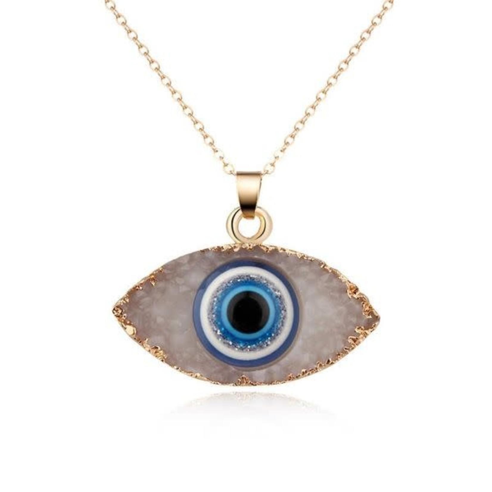 Evil Eye Necklace  - White
