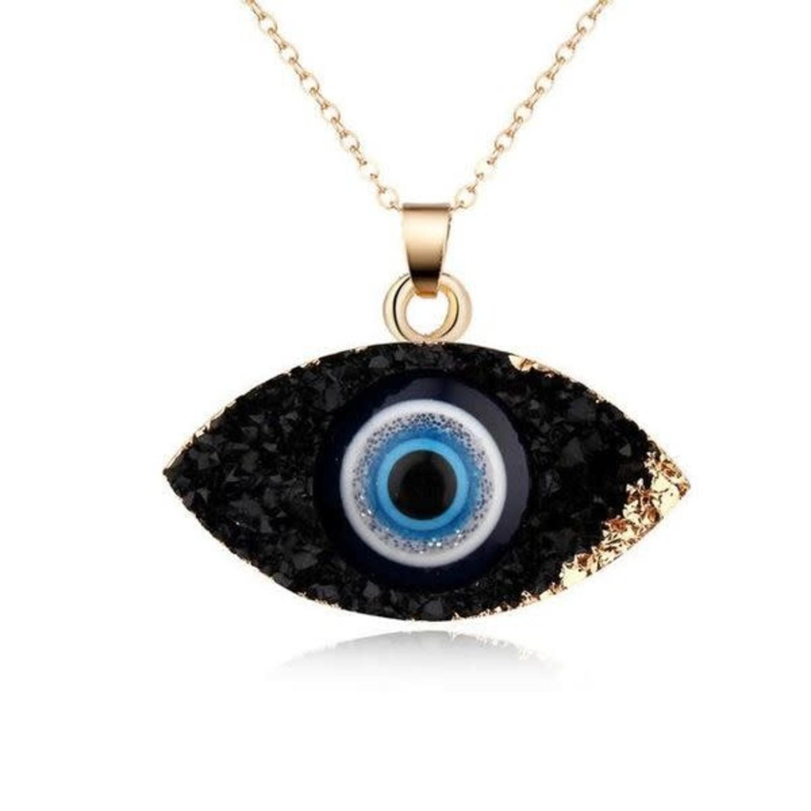Evil Eye Necklace- Black