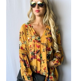 And The Why Mustard Floral
