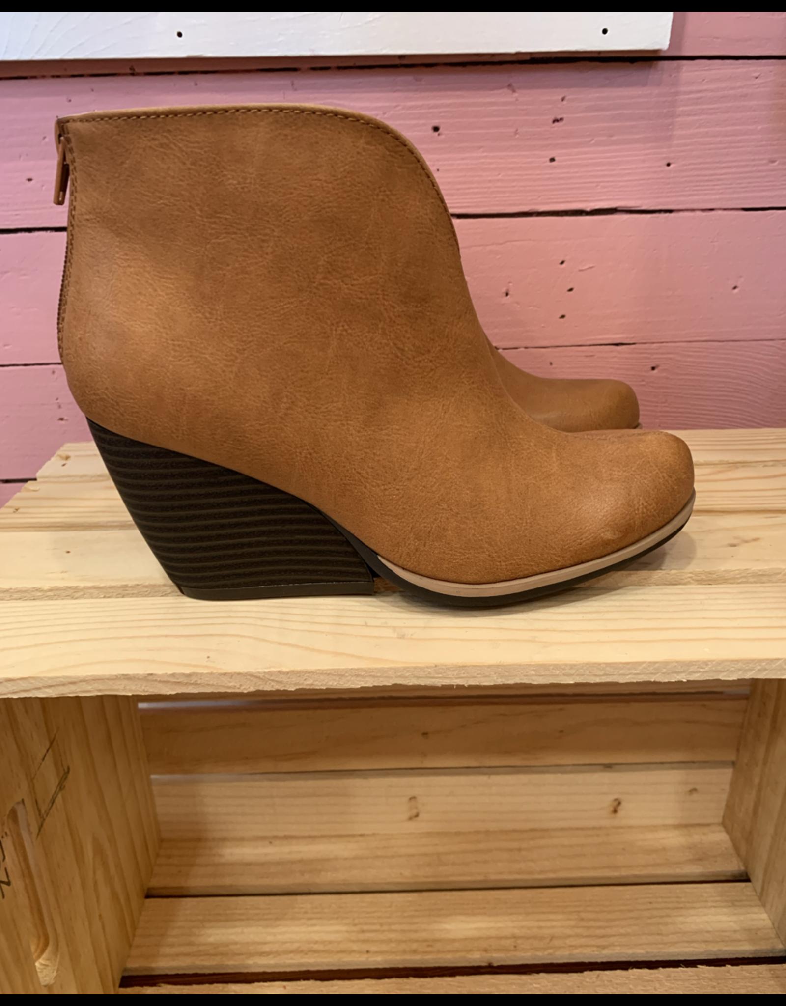 Cognac Wedge Boot