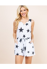 AAAAA Fashion Star Print Romper