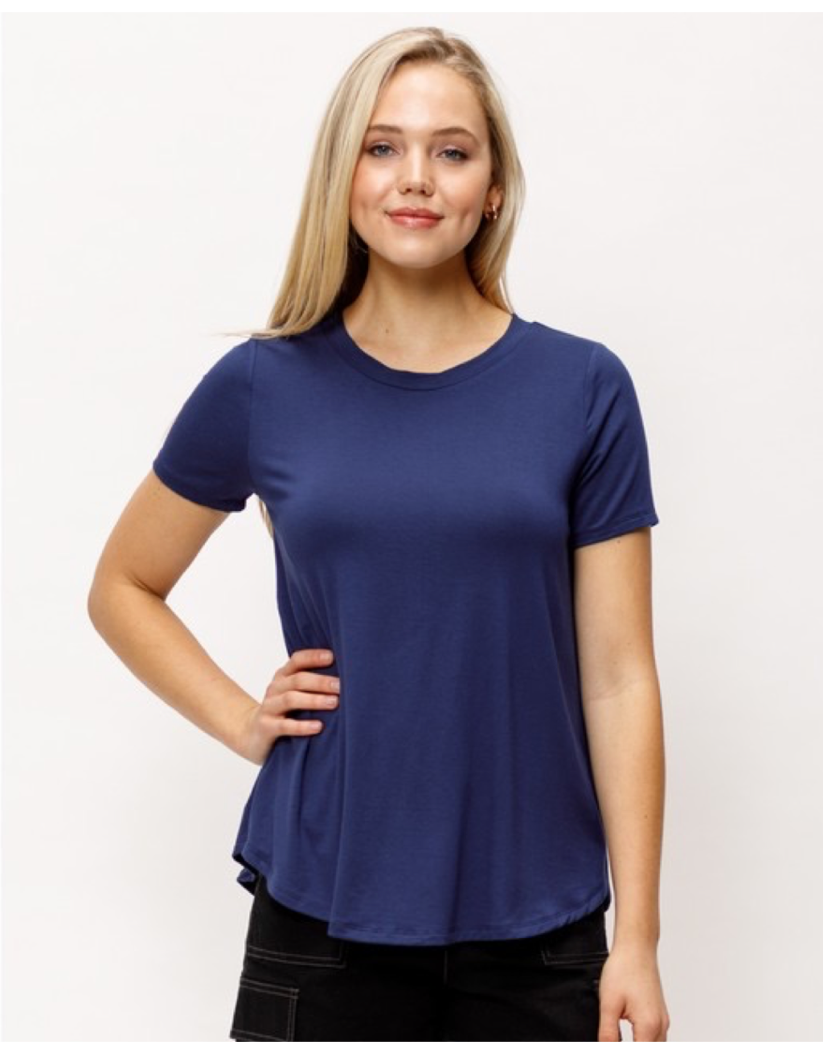 Bamboo Round Banded Neck Top