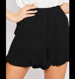 Linen Ruffle Detail Shorts